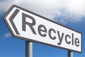 Cubo basura reciclaje